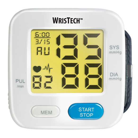 Color Changing Wrist Blood Pressure Monitor - View 2