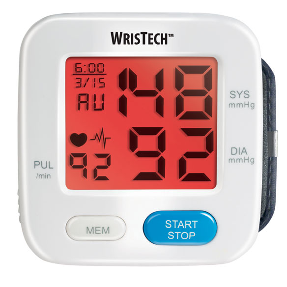 Color Changing Wrist Blood Pressure Monitor - View 3
