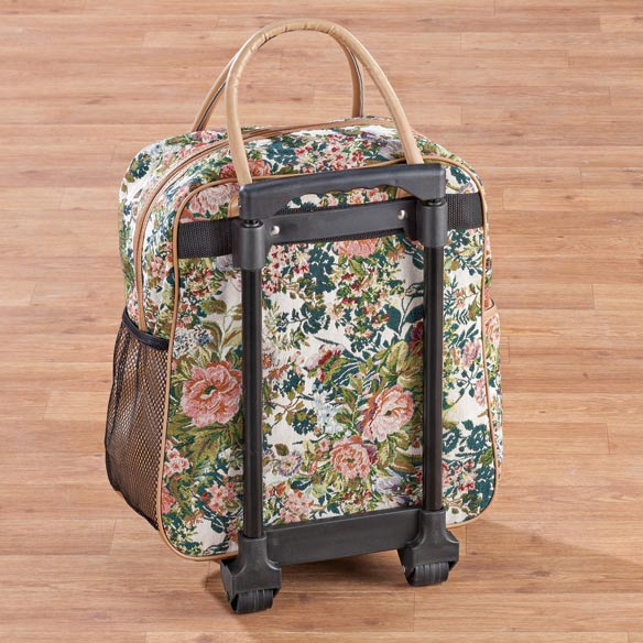 Floral Tapestry Rolling Tote - View 4