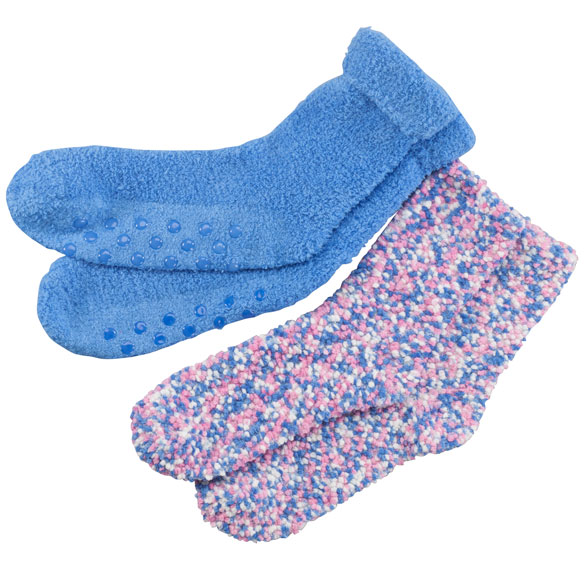 Popcorn and Chenille Luxury Socks, 2 Pairs - View 2