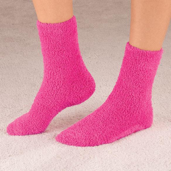 Popcorn and Chenille Luxury Socks, 2 Pairs - View 4