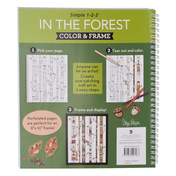 Adult Color & Frame Forest Coloring Book - View 3