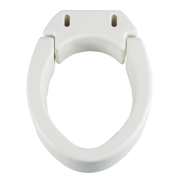 Hinged Toilet Seat Riser Elevated Toilet Seat Easy