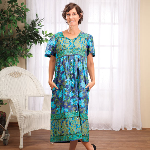 Square Yoke Snap Front Mid-Length Dress - View 5