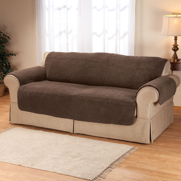 Sherpa Extra-Large Sofa Protector by OakRidge Comforts™ - View 3