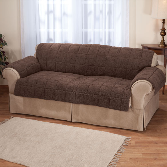 Waterproof Sherpa XL Sofa Protector by OakRidge Comforts™ - View 3