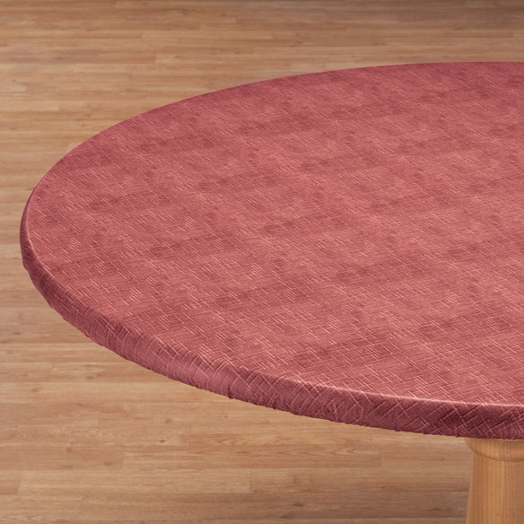 Illusion Weave Vinyl Elasticized Table Cover - View 2