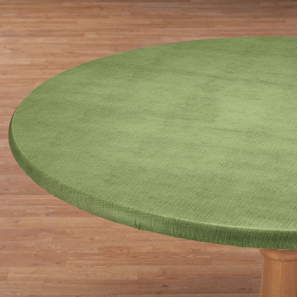 Illusion Weave Vinyl Elasticized Table Cover - View 3