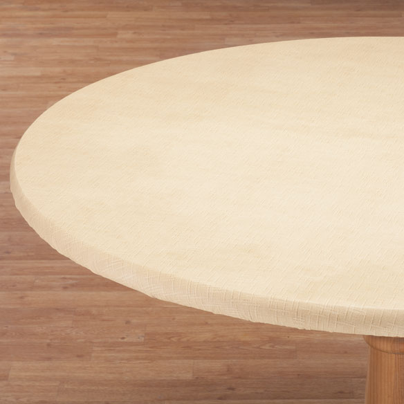 Illusion Weave Vinyl Elasticized Table Cover - View 4
