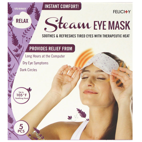 Disposable Steam Eye Masks, Set of 5 - View 4