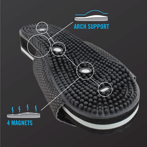AccuStep Adjustable Massage Sandals - View 2