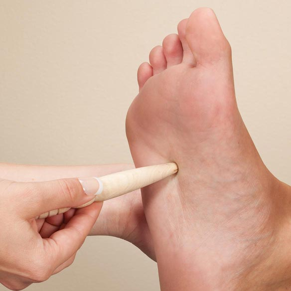 Traditional Wooden Reflexology & Massage Stick - View 3