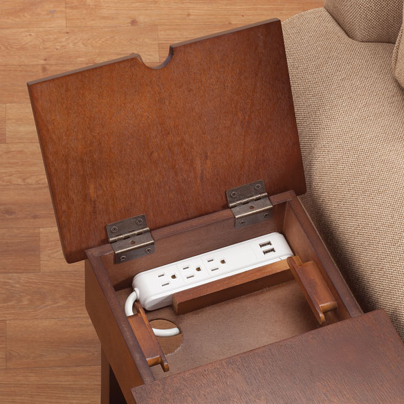 Chairside Table with USB Power Strip by OakRidge™ - View 2