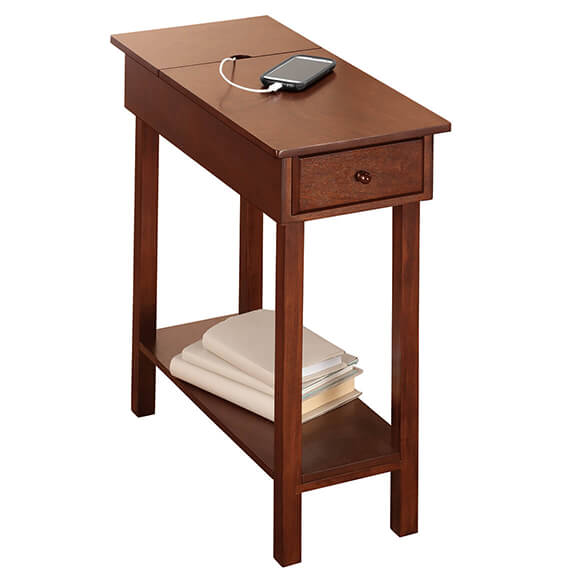 Chairside Table with USB Power Strip by OakRidge™ - View 3