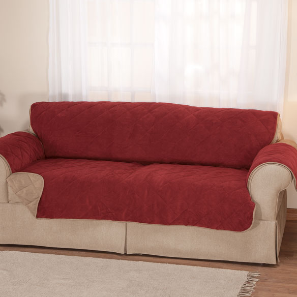 Plush to Suede Waterproof XL Sofa Protector by OakRidge Comforts™ - View 2