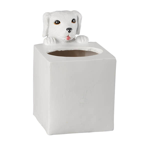 Playful Dog Tissue Box Holder by OakRidge™ - View 2