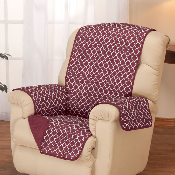 Deluxe Reversible Fashion Recliner Cover by OakRidge™ - View 2