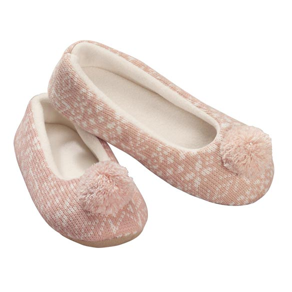 Nordic Style Ballet Slippers with Pom Pom - View 2