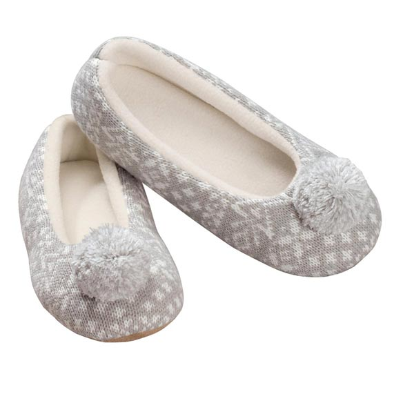 Nordic Style Ballet Slippers with Pom Pom - View 3