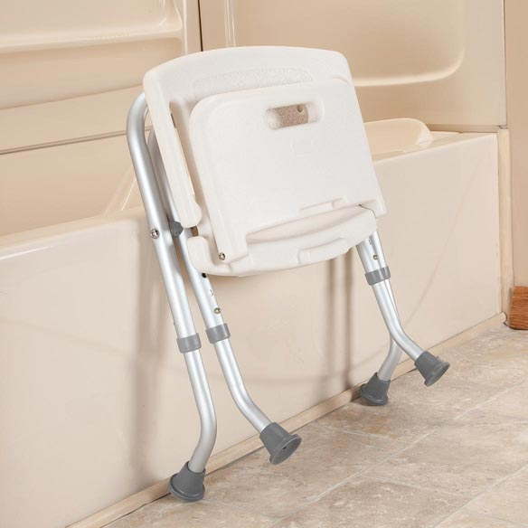 Folding Bath Seat with Back - View 3