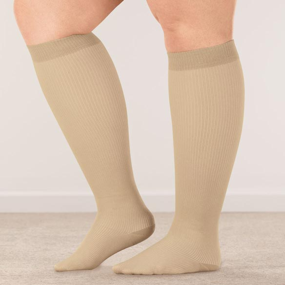 Silver Steps™ Wide Calf Compression Socks, 8–15 mmHg - View 2