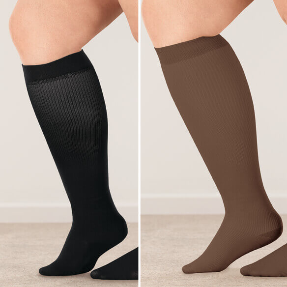 Silver Steps™ Wide Calf Compression Socks, 15–20 mmHg - View 4