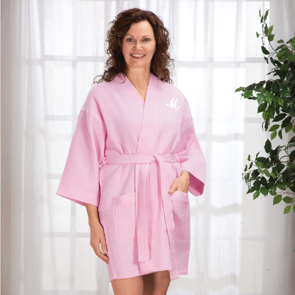 Personalized Waffle Robe - Short By Sawyer Creek Studio™​ - View 2