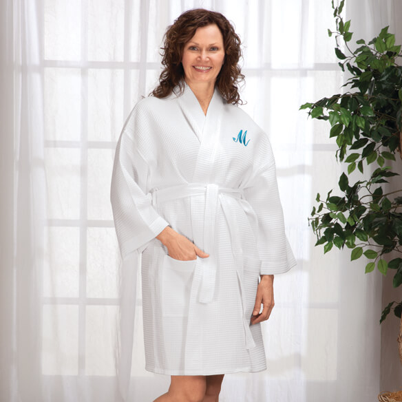 Personalized Waffle Robe - Short By Sawyer Creek Studio™​ - View 3