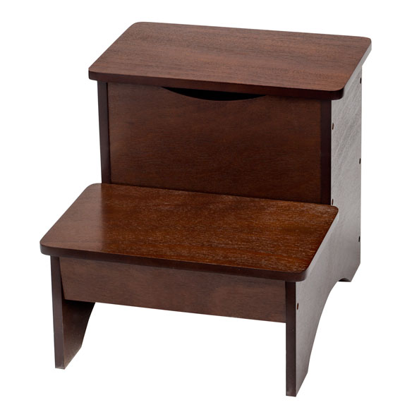 Wooden Step Stool with Storage by OakRidge™ - View 2