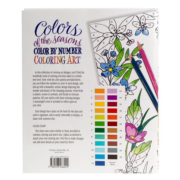 Colors of the Seasons Color by Number Coloring Book - View 2