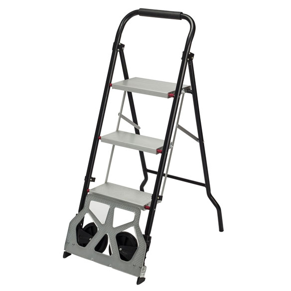 Rolling Step Ladder Dolly by LivingSURE™ - View 2