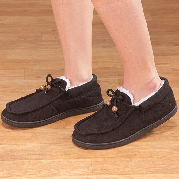 Women's Indoor/Outdoor Memory Foam Moccasins - View 3