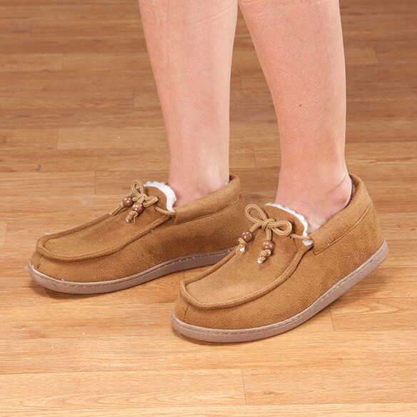Women's Indoor/Outdoor Memory Foam Moccasins - View 4