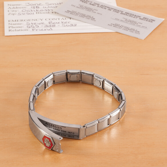 Medical ID Bracelet with Magnets - View 5