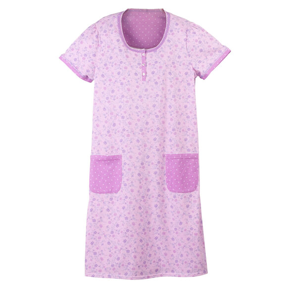 Lavender Floral Print Nightgown - View 2