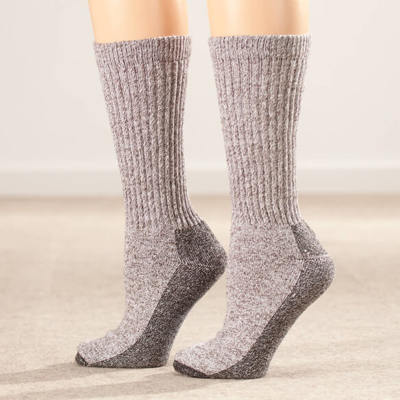 Silver Steps™ Wool Diabetic Socks, 2 Pairs - View 2
