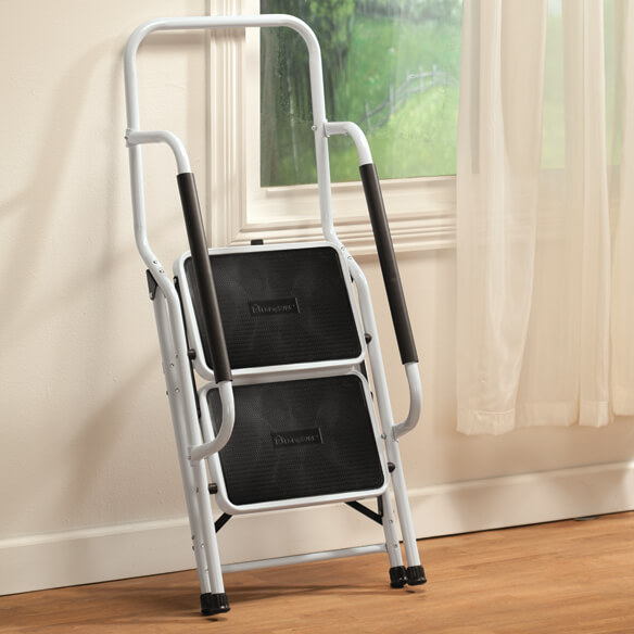 Step Ladder with Handles by LivingSURE™ - View 3