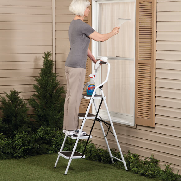Folding Four-Step Ladder by LivingSURE™ - View 2