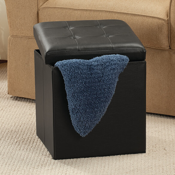 Folding Storage Ottoman - View 3