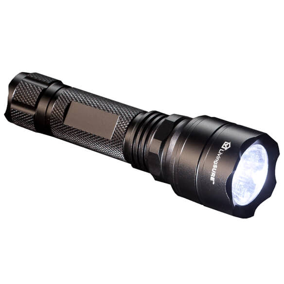 "5"" Tactical Flashlight with Rechargeable Battery by LivingSURE™ - View 4"