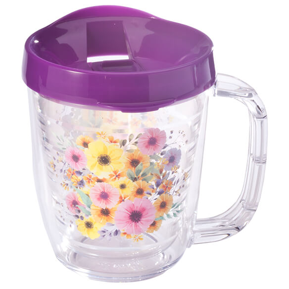 Tritan™ 12-oz. Insulated Mug, Floral - View 3