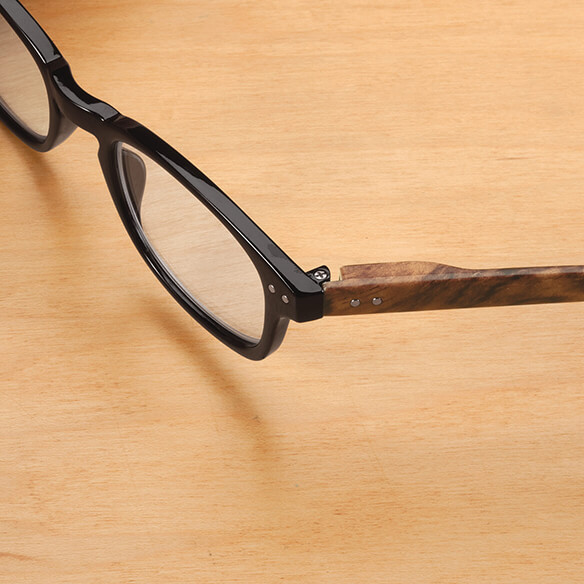 Reading Glasses with Wood Grain Bows, 2 Pair - View 4
