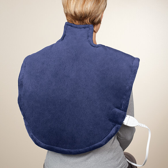 Plush Heating Pad Wrap for Shoulders, Neck, & Back - View 2