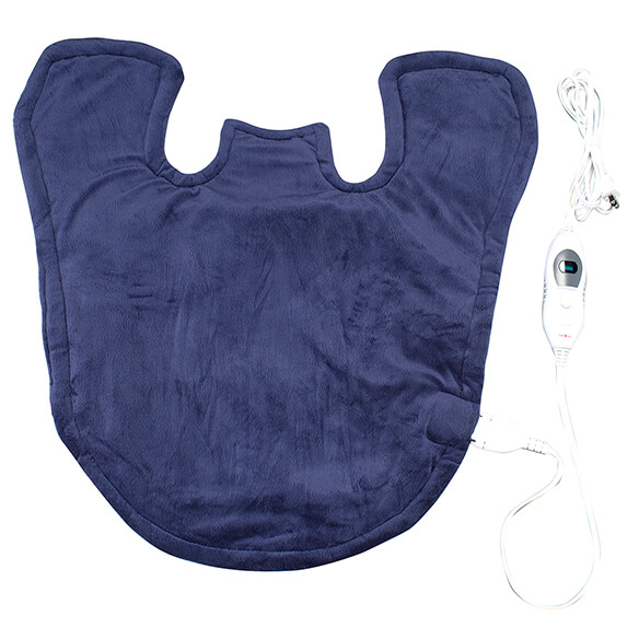 Plush Heating Pad Wrap for Shoulders, Neck, & Back - View 4
