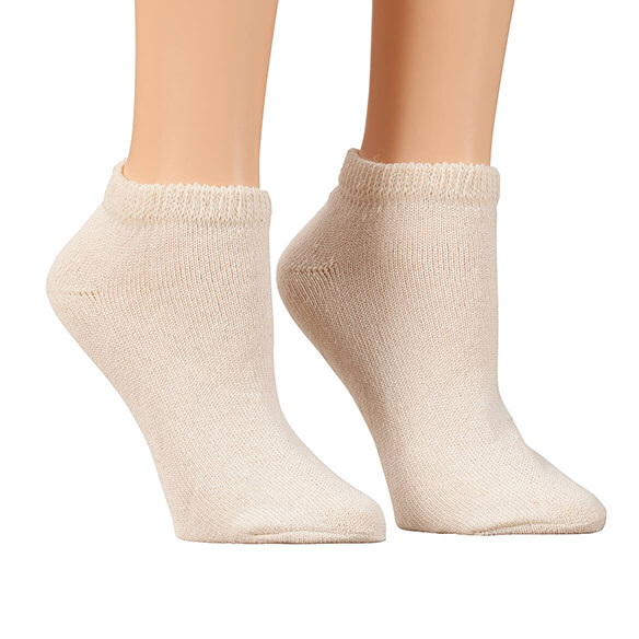 Silver Steps™ 3 Pack Low-Cut Diabetic Socks - View 3