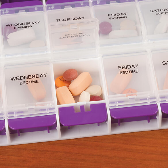 Oversized Easy Open Weekly Pill Organizer - View 3