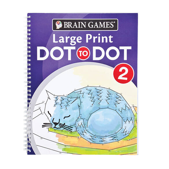 Brain Games® Large Print Dot to Dot Version 1 Owl Cover - View 2