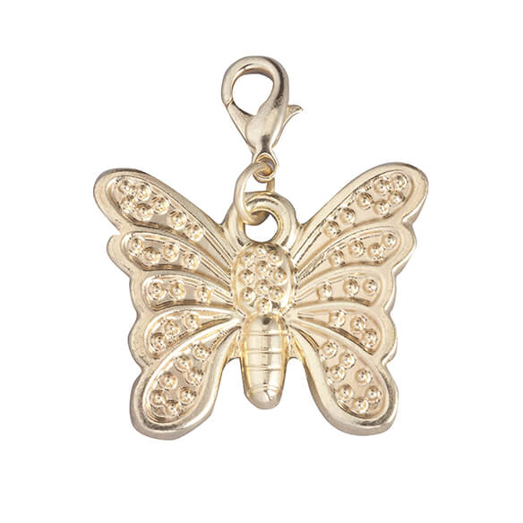 Zipper Pull Butterfly Gold - View 2