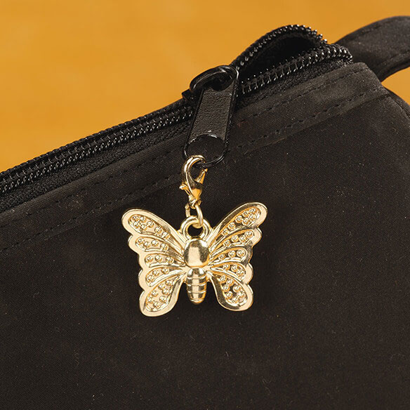 Zipper Pull Butterfly Gold - View 3