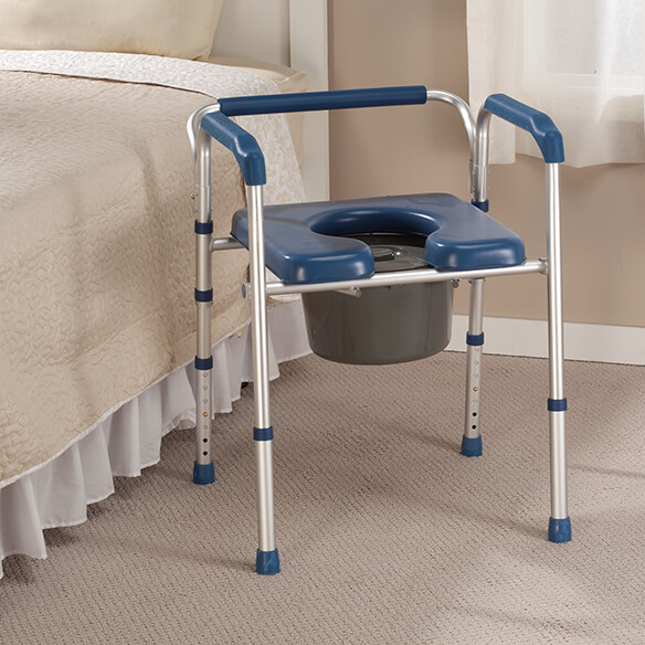 Folding Commode with Padded Seat - View 2